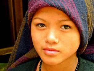 PORTRAIT DE FEMME - ARUGHAT, MANASLU, NEPAL