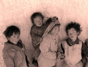 ENFANTS DE LO MANTHANG - MUSTANG, NEPAL