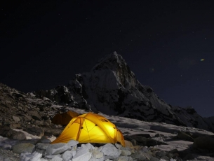 CAMP AVANCE, DE NUIT - AMA DABLAM EXPEDITION, NEPAL