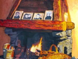 A COTE DE LA CHEMINEE - MERIBEL - ISABELLE MONTEGUDET
