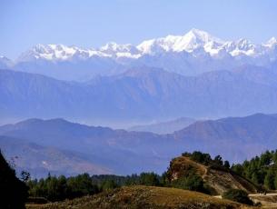 VUE DU SOLOKHUMBU SUR LE KHUMBU - NEPAL
