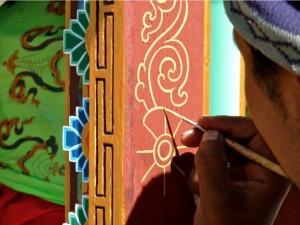 L'art des moines peintres au Népal.
