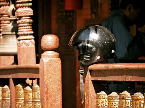 L'Aventure à moto. Kathmandu
