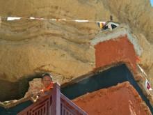 Enfant moine au Mustang, Népal