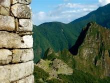 Machu Picchu et Huayna Picchu depuis la Porte du Soleil, Pérou