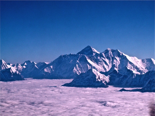 Vol panoramique, Massif de l'Everest, Népal